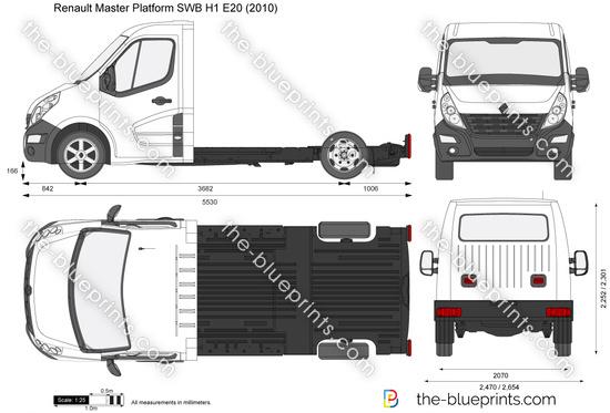 Renault Master Platform SWB H1 E20