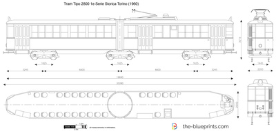 Tram Tipo 2800 1e Serie Storica Torino