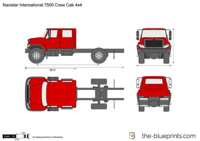 Navistar International 7500 Crew Cab 4x4