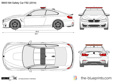 Bmw M4 Safety Car F82 Vector Drawing