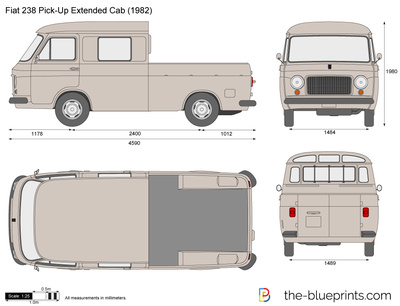 Fiat 238 Pick-Up Extended Cab