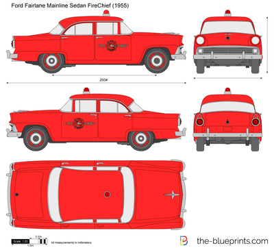 Ford Fairlane Mainline Sedan FireChief