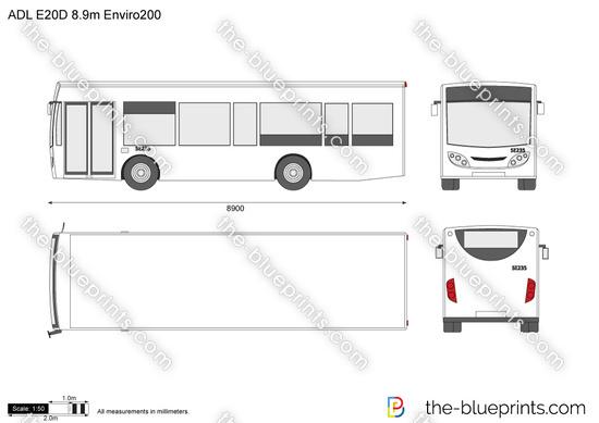ADL E20D 8.9m Enviro200
