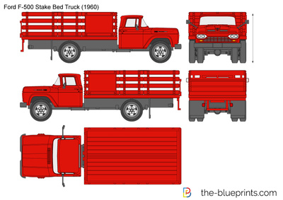 Ford F-500 Stake Bed Truck