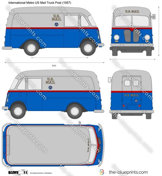 International Metro US Mail Truck Post