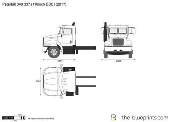 Peterbilt 348 337 (110inch BBC)