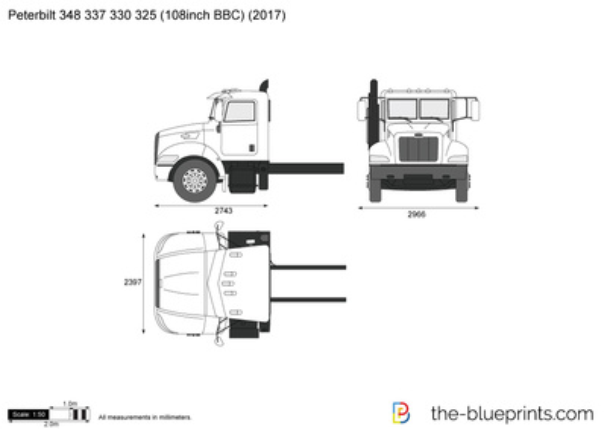 Peterbilt 348 337 330 325 (108inch BBC)