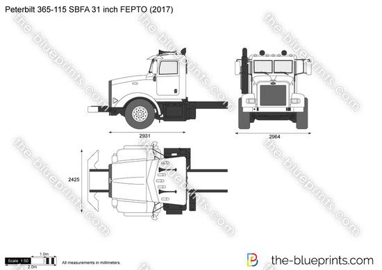 Peterbilt 365-115 SBFA 31 inch FEPTO
