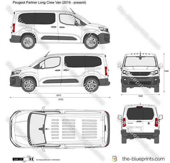 Peugeot Partner Long Crew Van