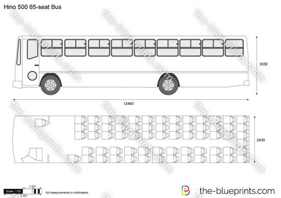 Hino 500 65-seat Bus