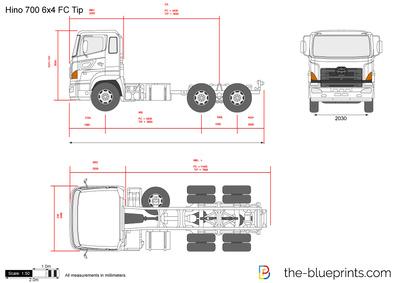 Hino 700 6x4 FC Tip