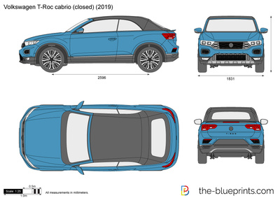 Volkswagen T-Roc cabrio (closed)