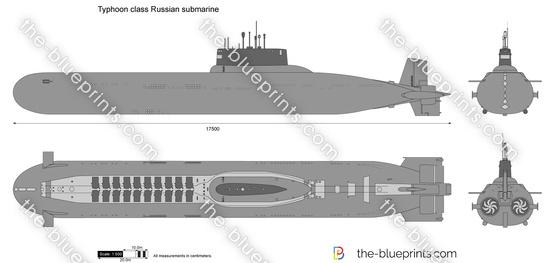 Typhoon class Russian submarine