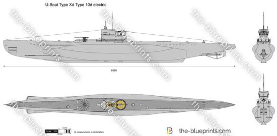U-Boat Type Xd Type 10d electric