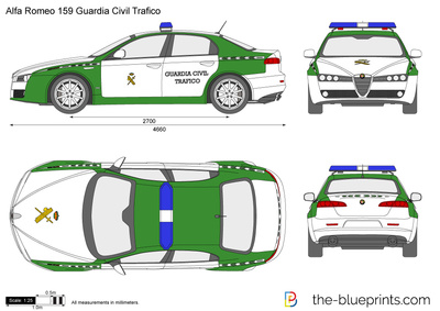 Alfa Romeo 159 Guardia Civil Trafico