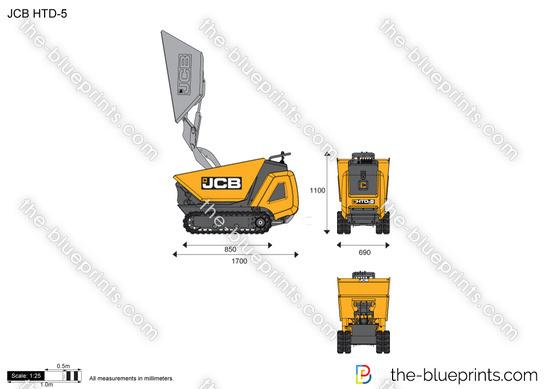 JCB HTD-5 Dumpster