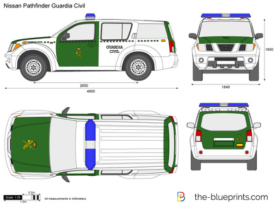 Nissan Pathfinder Guardia Civil