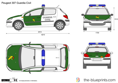 Peugeot 307 Guardia Civil