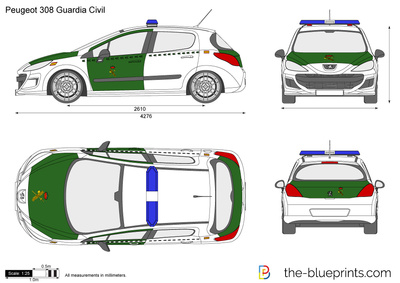 Peugeot 308 Guardia Civil