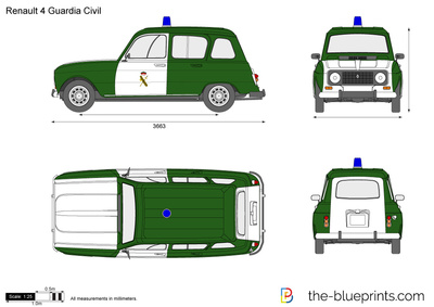 Renault 4 Guardia Civil