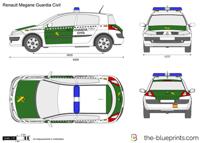 Renault Megane Guardia Civil