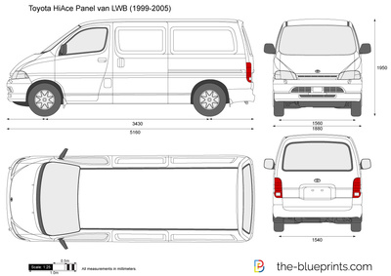 Toyota HiAce Panel van LWB