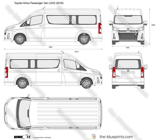 Toyota HiAce Passenger Van L2H2