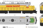 GM-EMD GP38-2 Diesel-Electric Locomotive Union Pacific 1435