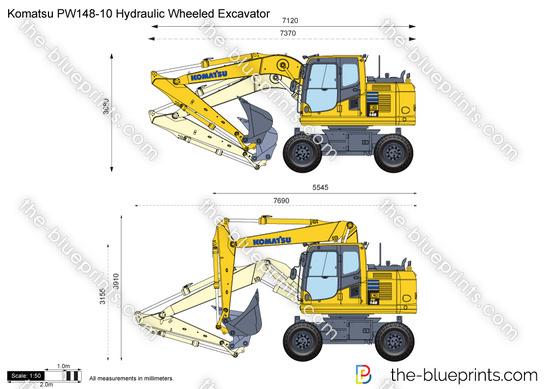 Komatsu PW148-10 Hydraulic Wheeled Excavator