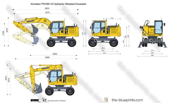 Komatsu PW160-10 Hydraulic Wheeled Excavator