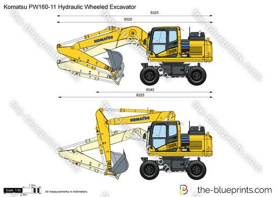 Komatsu PW160-11 Hydraulic Wheeled Excavator
