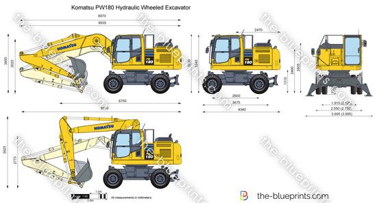 Komatsu PW180 Hydraulic Wheeled Excavator