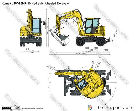 Komatsu PW98MR-10 Hydraulic Wheeled Excavator