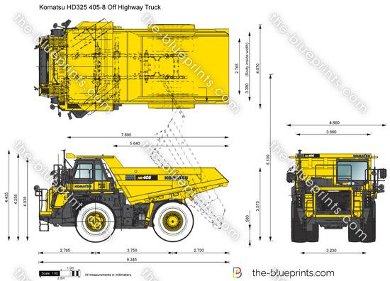 Komatsu HD325 405-8 Off Highway Truck