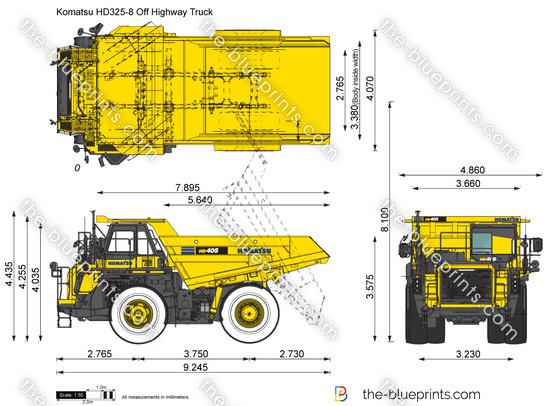 Komatsu HD325-8 Off Highway Truck
