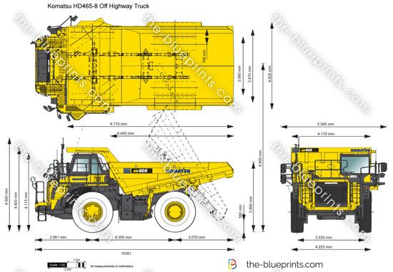Komatsu HD465-8 Off Highway Truck