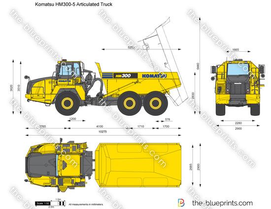 Komatsu HM300-5 Articulated Truck