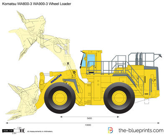 Komatsu WA800-3 WA900-3 Wheel Loader