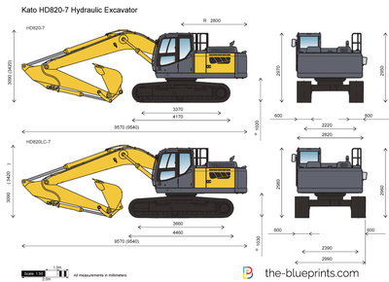 Kato HD820-7 Hydraulic Excavator