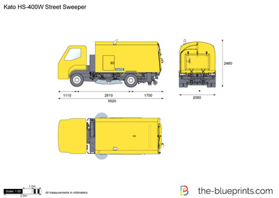 Kato HS-400W Street Sweeper