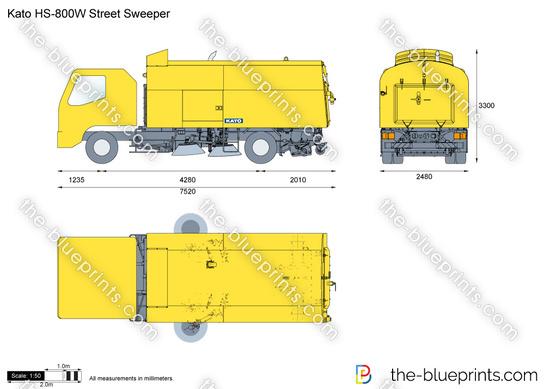 Kato HS-800W Street Sweeper