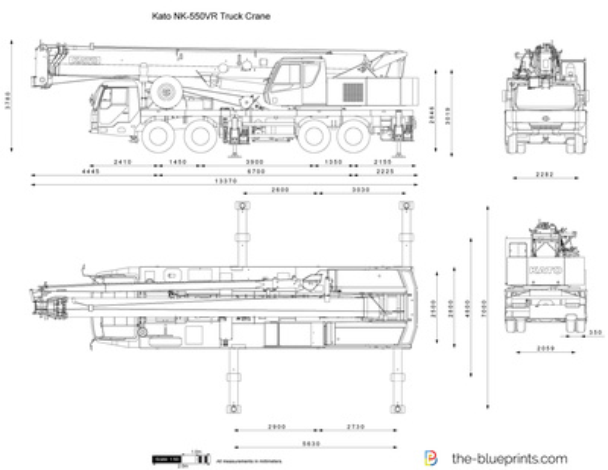 Kato NK-550VR Truck Crane