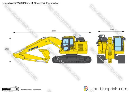 Komatsu PC228USLC-11 Short Tail Excavator