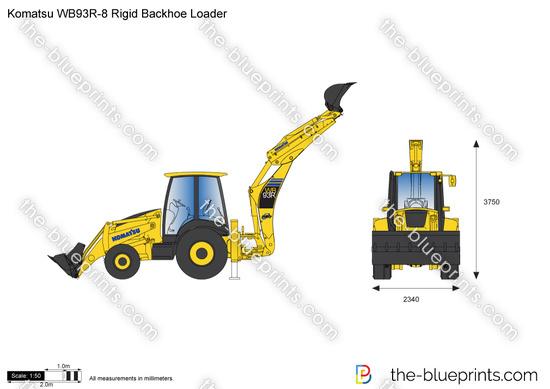 Komatsu WB93R-8 Rigid Backhoe Loader