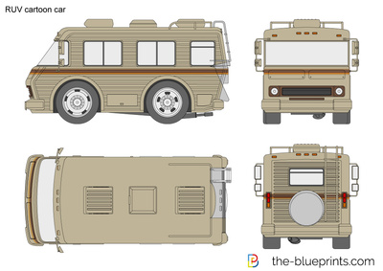RUV cartoon car