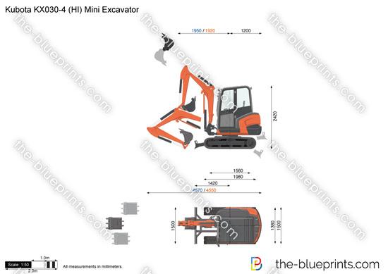 Kubota KX030-4 (HI) Mini Excavator