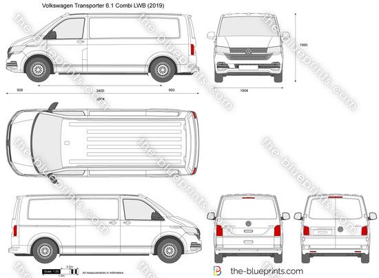 Volkswagen Transporter T6.1 Combi LWB