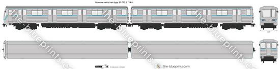 Moscow metro train type 81-717.6 714.6