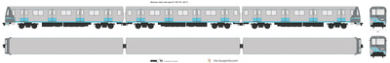 Moscow metro train type 81-760-761