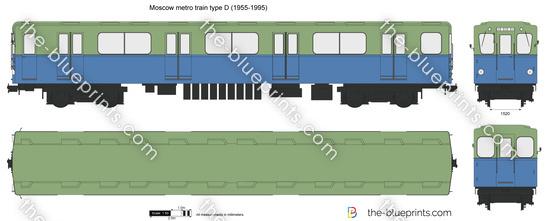 Moscow metro train type D (1955-1995)